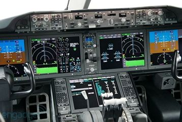 Digital display in cockpit
